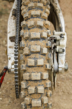 knobby dirt bike tire