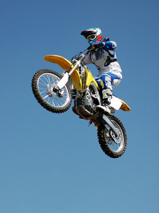 Bikes Jumping dirt bike jump