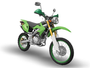 green motocross bike